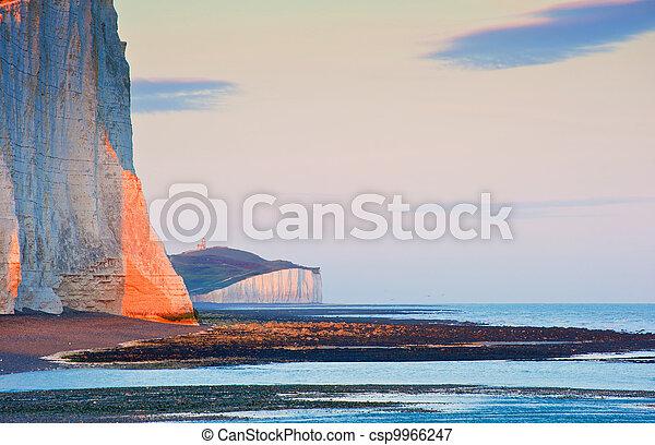 Sven Sisters Cliffs South Downs England landscape - csp9966247