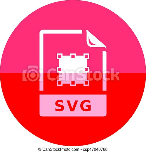 svg, cirkel, -, bestand, pictogram - csp47040768