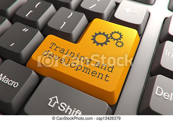 sviluppo, addestramento, button., tastiera - csp13426379