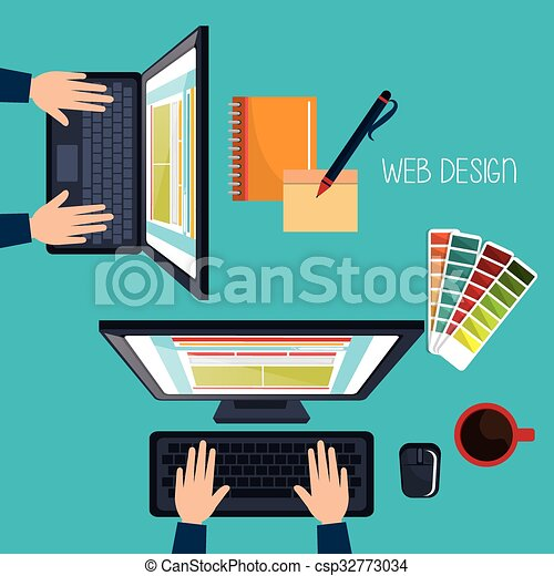 sviluppo, disegno web - csp32773034