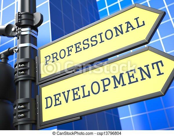 sviluppo, professionale, concept., segno., affari - csp13796804