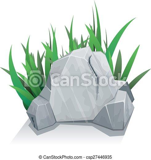 svobodný, pastvina, kámen - csp27446935