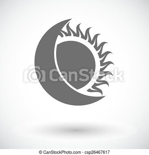 svobodný, zatmění, icon., sluneční - csp26467617