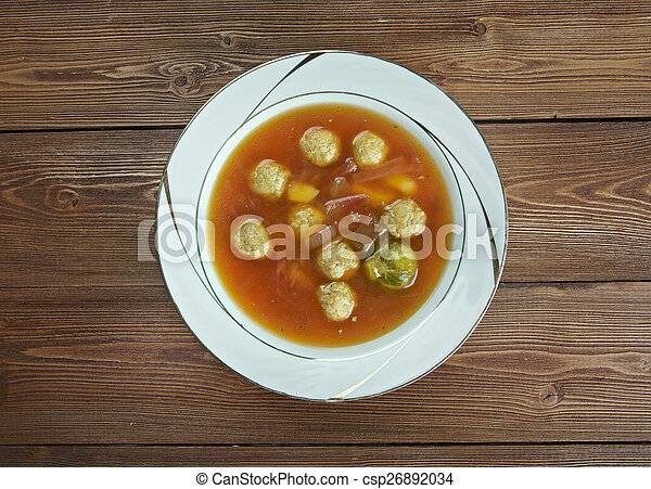 Swabian soup with meatballs - csp26892034