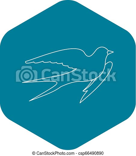 Swallow icon, outline style - csp66490890