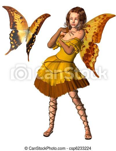 Swallowtail Butterfly Fairy - 3 - csp6233224