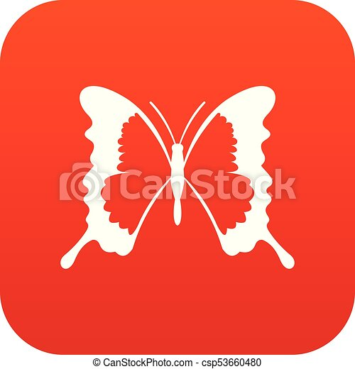 Swallowtail butterfly icon digital red - csp53660480