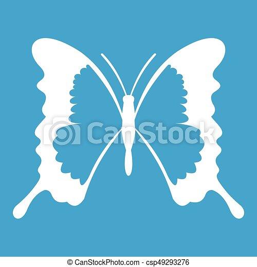 Swallowtail butterfly icon white - csp49293276