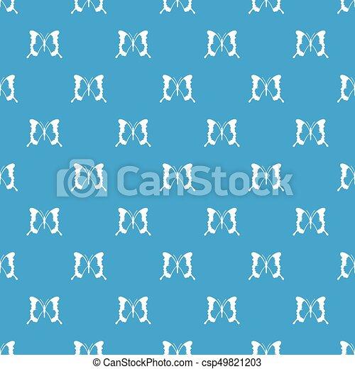 Swallowtail butterfly pattern seamless blue - csp49821203