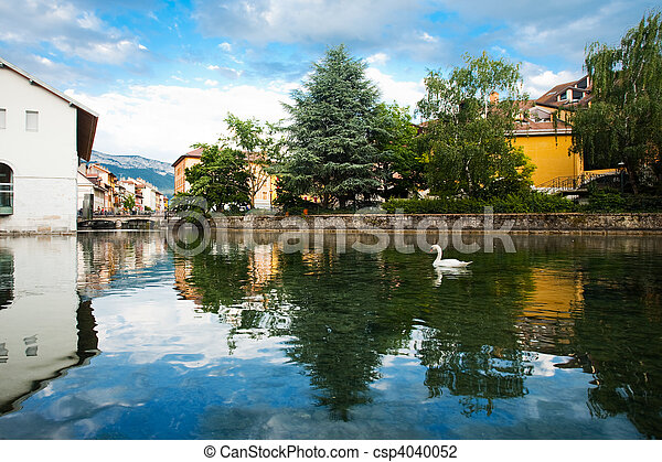 Swan Annecy Canal Wide - csp4040052