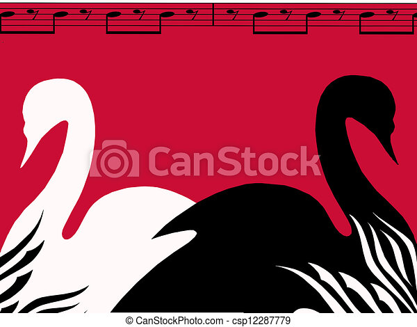 Swan Lake Clipart Swan lake poster stock...