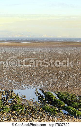 Swansea Bay tidal flats - csp17837690