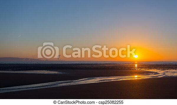 Swansea beach sunrise - csp25082255