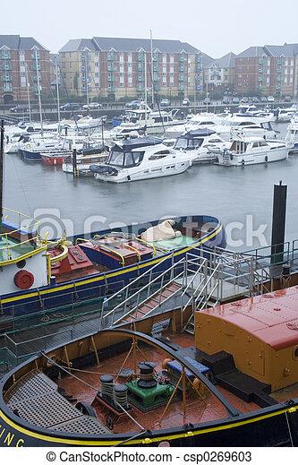 Swansea Marina, UK. - csp0269603