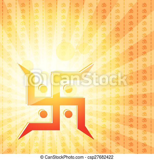 Vector Swastik Symbol Background Vector Illustration Search
