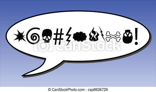 Swear Words Comic Swear Word In A Speech Bubble Eps Vectors