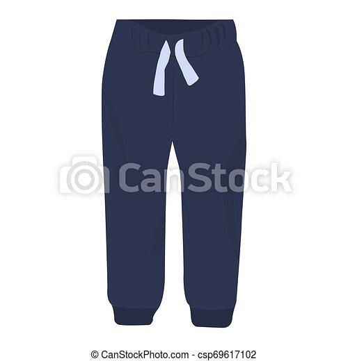 Sudadores de ícono vectorial en un fondo blanco. Ilustración de pantalones aislada en blanco. Diseño de ropa deportiva de estilo realista, diseñado para web y aplicación. Eps 10. - csp69617102