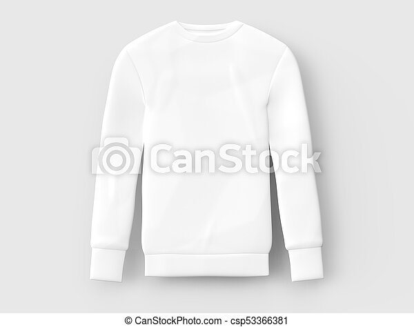Sweatshirt Template Mockup Blank White Cloth For Men Isolated On