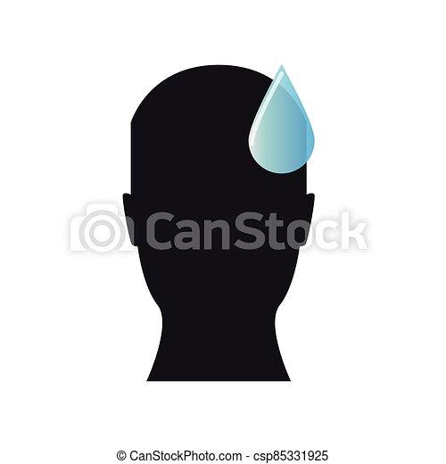 Sweaty male silhouette - csp85331925
