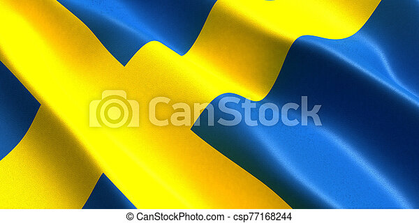 sweden flag 3d - csp77168244