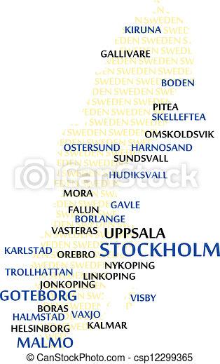 SWEDEN Word Cloud Map - csp12299365
