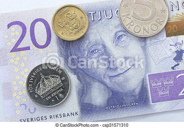 Swedish Currency Close Up - csp31571310