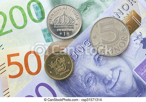 Swedish Currency Close Up - csp31571314