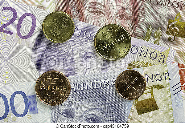Swedish Currency Close Up - csp43104759
