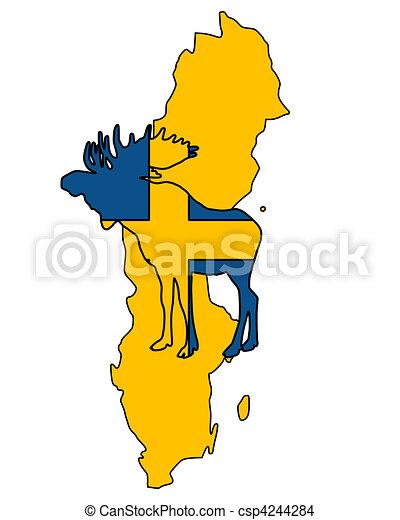 Swedish moose - csp4244284