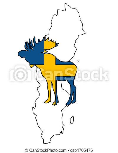 Swedish moose - csp4705475