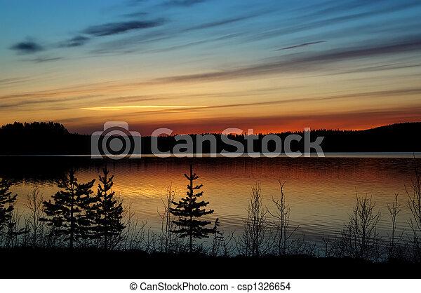 Swedish sunset - csp1326654