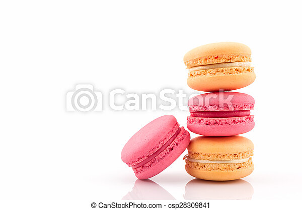 Sweet and colourful french macaroons or macaron. - csp28309841