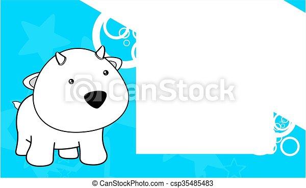 Sweet baby goat cartoon frame card. Sweet baby goat cartoon frame ...