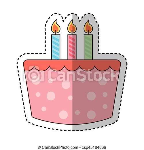 Sweet Cake Birthday Icon Vector Illustration Design