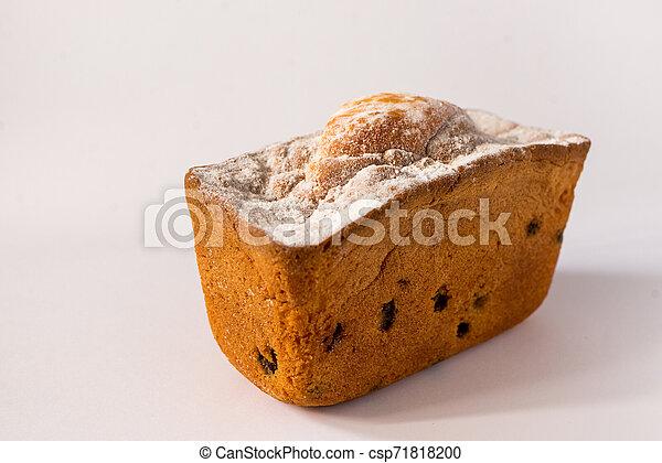 sweet cake on white background - csp71818200