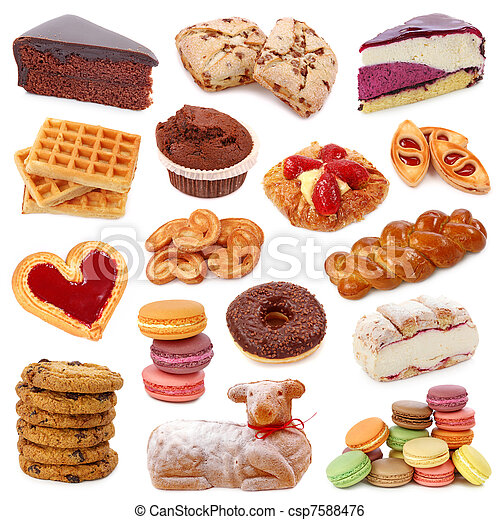 Sweet cakes collection - csp7588476