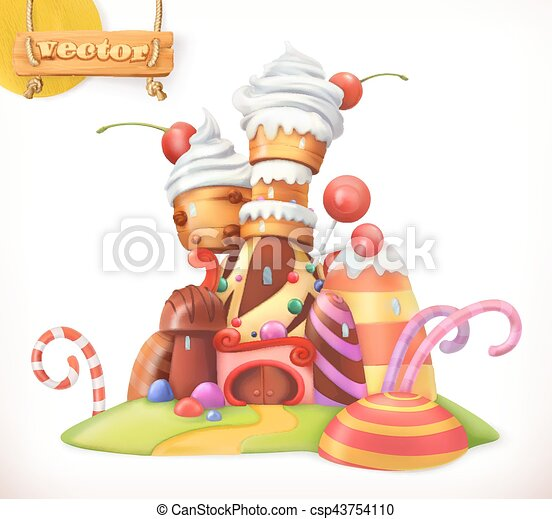 Sweet castle gingerbread house cake cupcake candy 3d for Sweet home 3d italiano