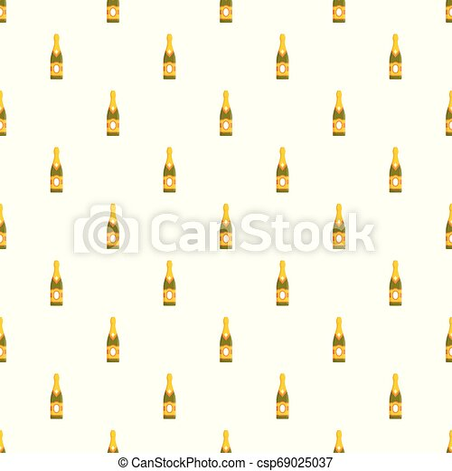 Sweet champagne pattern seamless vector - csp69025037