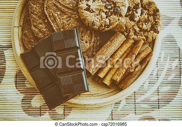 Sweet chocolate foods - csp72016985