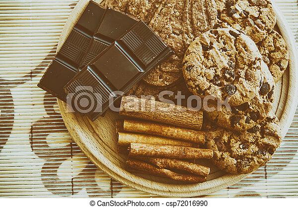 Sweet chocolate foods - csp72016990