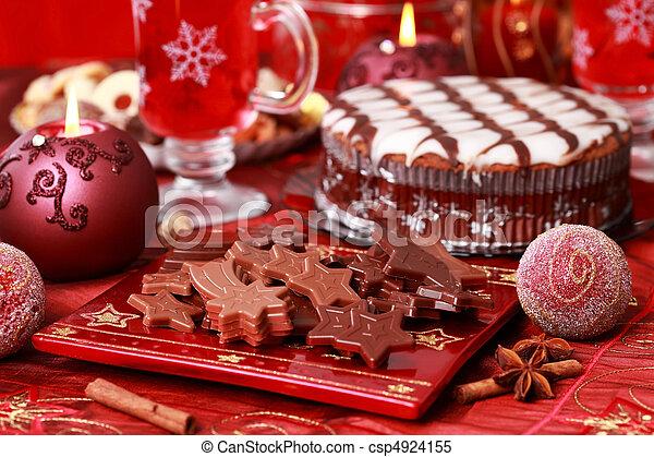 Sweet chocolate for Christmas - csp4924155