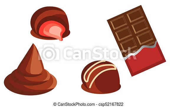 sweet chocolate sweets and chocolate bars vector vector illustration rh canstockphoto com chocolate victoria stone chocolate victoria sandwich
