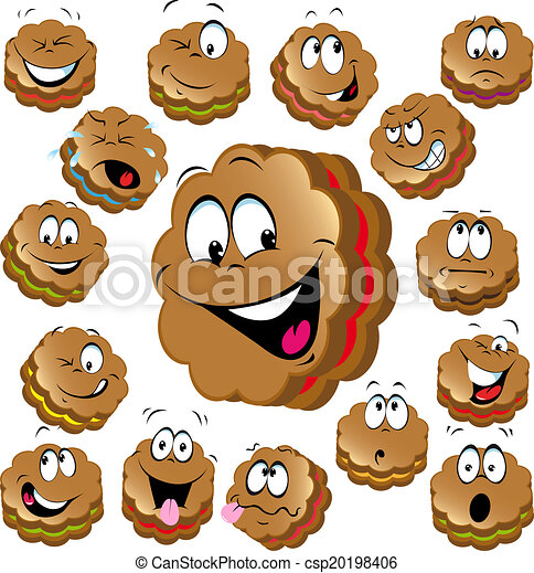 Sweet Christmas Cookies With Funny Faces