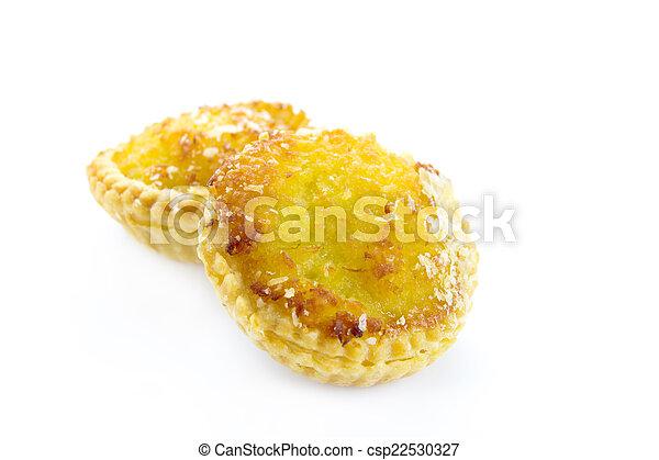 Sweet Coconut tarts - csp22530327