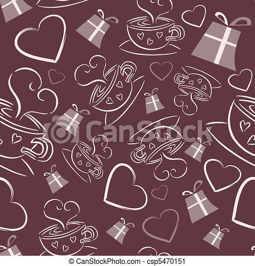 Sweet coffee seamless - csp5470151