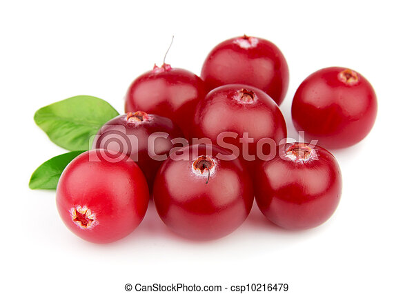 Sweet cranberries with leafs - csp10216479