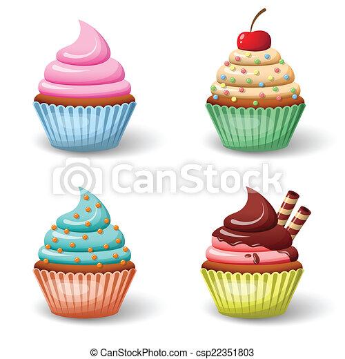 Sweet cupcake set - csp22351803