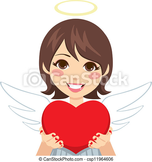 Sweet Cupid Angel Heart - csp11964606