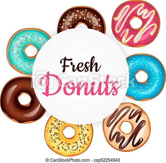 sweet donut advertising banner vector illustration on white eps rh canstockphoto com advertisement clipart internet advertising clipart