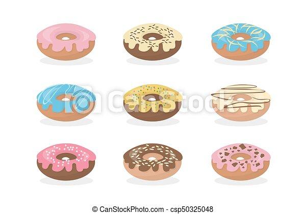 Sweet donuts set. - csp50325048